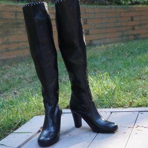 *LIKE NEW* BLACK KNEE HIGH FRANCO SARTO BOOTS